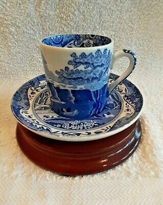 Spode Blue And White Cup And Saucer • 25£