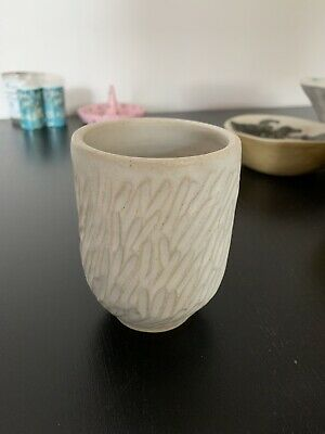 Handmade In London Carved Cup Anthropology Style • 6£