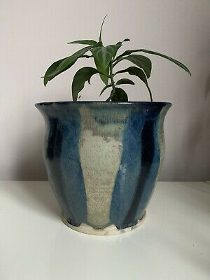 Handmade In London Large Ceramic Plant Pot Anthropology Style • 25£