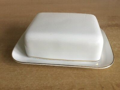 Thomas Medaillon Narrow Gold Band Butter Dish • 20£