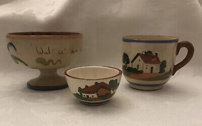 Vintage  Dartmouth Motto/ Other Pottery Motto Ware: 3 Items Just £8.99 • 8.99£