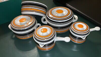 Set Of Vintage Thomas Flammfest Casserole Dishes Scandic 1970s • 22£
