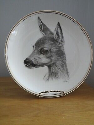Fenton China Company Bone China Plate. DEERS FACE????.LOVELY.Signed  H. ARNDT • 4£