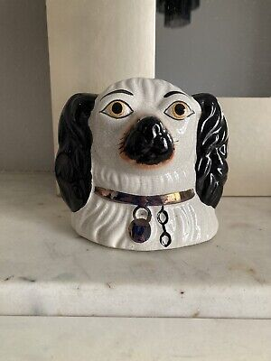 Staffordshire Wally Dog Money Box Mantle Spaniel • 6£