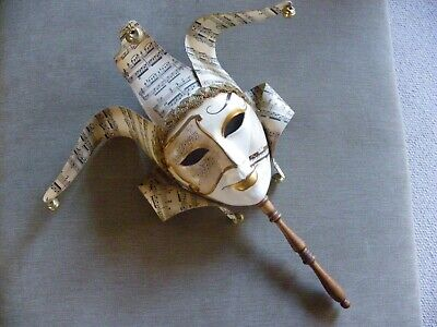 Authentic, Hand-made Venetian Mask, With Certificate Of Authenticity • 10£