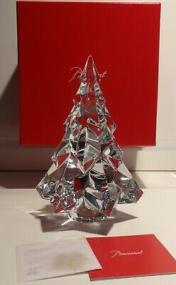 New Baccarat Crystal Gstaad Medium Christmas Fir Tree 7 1/2  ~ In Original Box  • 347.44£