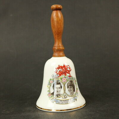 Jason Works Nanrich Pottery Table Hand Bell Prince Charles & Lady Diana Wedding  • 3£
