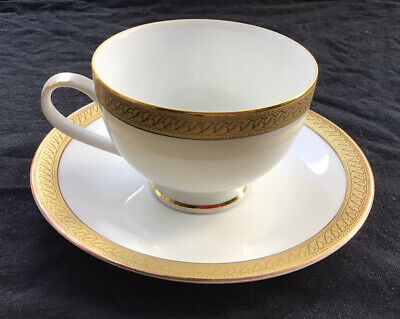 Boots Imperial Gold Cup And Saucer. White With Thick Gold Border. (7 Available) • 4.99£