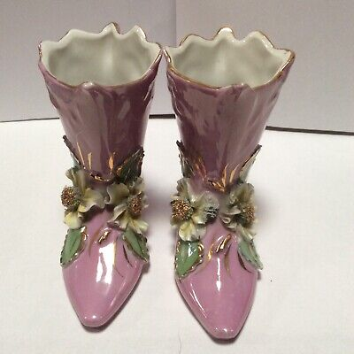 Two Ornate 'Present From Rhyl' Boots • 5£