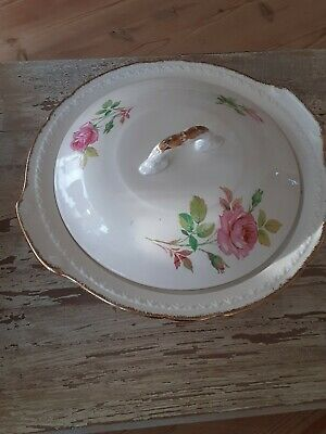 Swinnertons Staffordshire England Vegetable Turreen With Lid Majestic Vellum • 1.50£