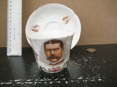 Very Rare Lord Kitchener Boer War Commemorative Cup And Saucer Militaria • 19.99£