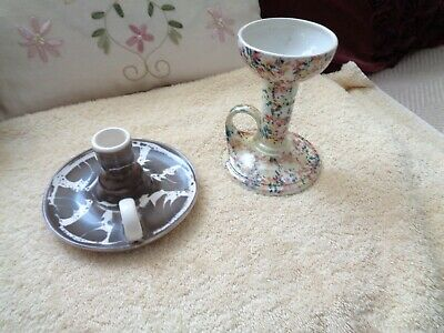 Two Chine Studio One Aviemore Scotland Candle Stick Holders One Can Read Mark • 9£