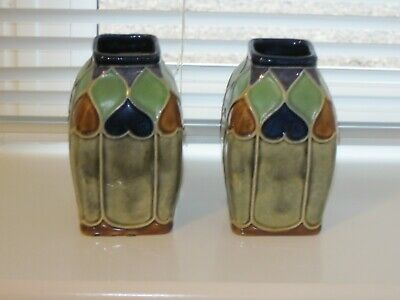 Pair Of Art Nouveau Royal Doulton Vases • 105£