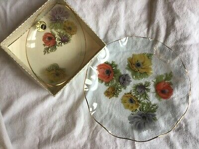 Vintage Chance Glass Anemone Plate And Bowl-used • 1.60£