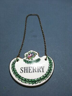 Vintage Bone China Sherry Decanter Label- Crown Staffordshire  • 6£