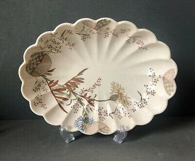 Ridgways Aesthetic Movement 'Stratford' Pattern Scalloped Bowl Serving Dish • 30£