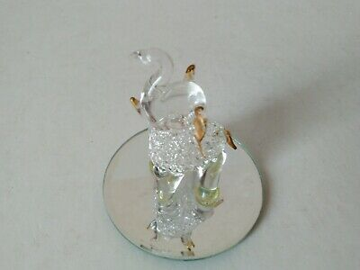Elephant Clear Crystal Cut Glass Ornament Statue African Solid Sculpture 7cm  • 9.99£