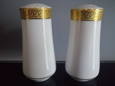 Imperial Gold Fine China Salt & Pepper Pots By Boots • 19.99£