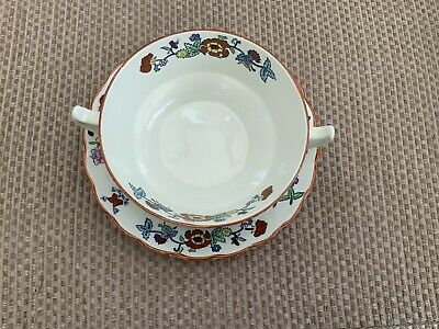 Booths Pompadour Soup Bowl And Saucer • 10£