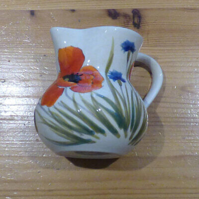 Nuova Ceramica Vicenza Poppy Jug Signed. Excellent Condition • 9.95£