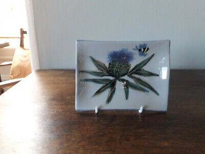 Highland Stoneware Pottery Small Rectangular Plate Hand Painted By Susan Bran • 12.50£