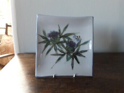 Highland Stoneware Pottery Medium Square Plate Hand Painted By Tracey Montgomery • 27£