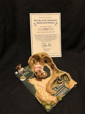 Westminster Editions Beatrix Potter Tableau Tale Of Mrs Tittle Mouse • 40£