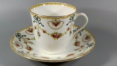 Antique Foley Porcelain China Cup Saucer  Swags Bows Edwardian • 10.49£
