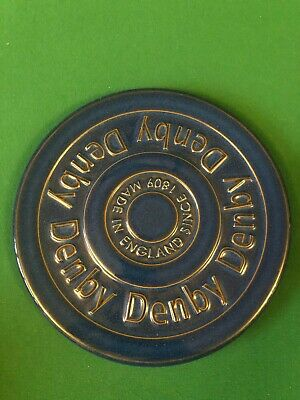 Denby Imperial Blue Trivet Used Pottery  Used Trivet Pottery Stoneware • 30£