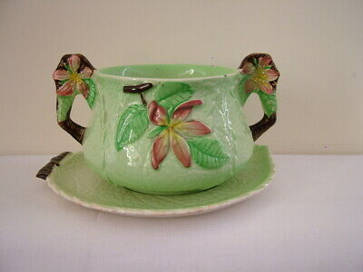 Carlton Ware Australian Design Apple Blossom Green Leaf Cup With Saucer • 15.95£