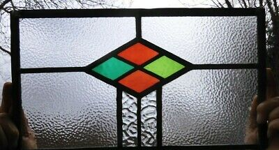 Stained Glass Panel  ,completely Original (apart From Hanging Loops) 1920/30s • 25£