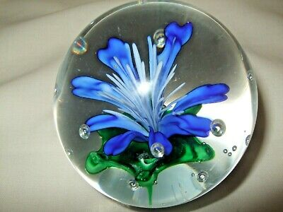 Glass Paperweight Floral Unmarked • 2.99£