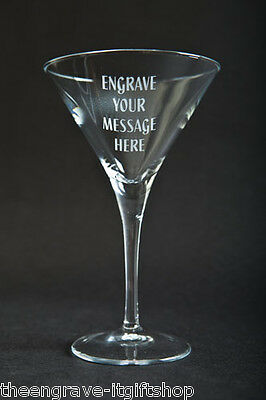 Personalised Martini Glass - Engraved Gift - Gift Boxed • 17.95£