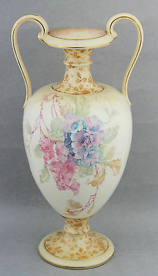 Antique Royal Doulton Vase Urn Floral Burslem Ca.1895 Vintage • 230.76£