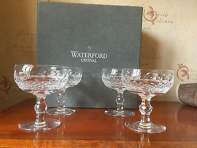 Waterford Crystal Colleen Champagne Saucers/glasses • 350£