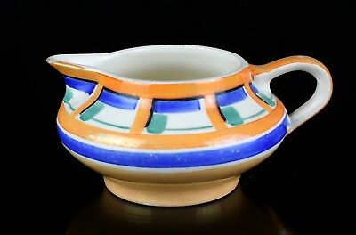 SUSIE COOPER For GRAYS POTTERY 1930s ART DECO GEOMETRIC BANDED MILK TEA JUG 7190 • 40£