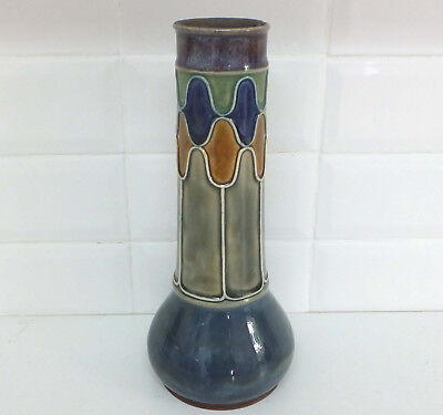 Early 20th. Century Doulton Lambeth Stoneware Vase By Jane Hurst. • 75£
