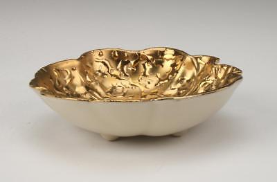 Lovely Mid 1950s Holley Ross 22 Karat Molten Gold Small Bowl • 48£