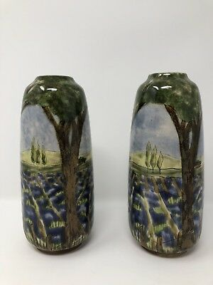 Pair Of Cobridge 7.5  Vases By Caley Mill  • 195£