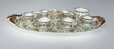 Completely Unique Charming Miniature 19th C. Hand-painted China Tea Set • 125£