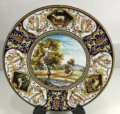Laura Silvagni Faenza Hand Painted Landscape Charger Italian Pottery  • 199£