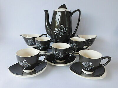 Carlton Wear Coffee Set  Boomerang  Pattern ~ Free Uk Postage • 29.50£