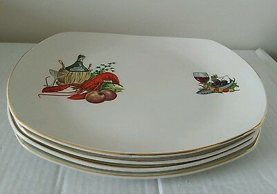SET OF 4 HARRY HANCOCK DINNER PLATES  1960s/70s LOVELY CONDITION & COLLECTABLE  • 25£