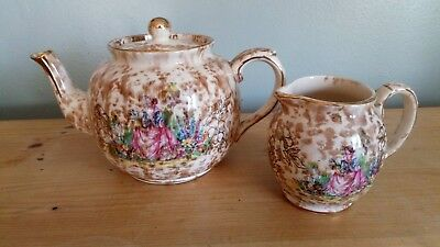 Vintage Price Brothers Teapot & Milk Jug, Great Vintage Condition • 22£