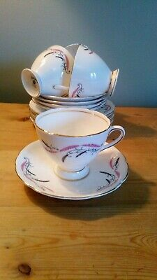 Vintage Gladstone China Part Tea Set, 14pc, Good Condition • 22£