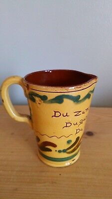 Antique Aller Vale Torquay Pottery Jug, Good Condition • 12.50£