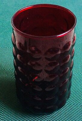 Anchor Hocking, Royal Ruby, Bubble Red, Vase • 4.99£