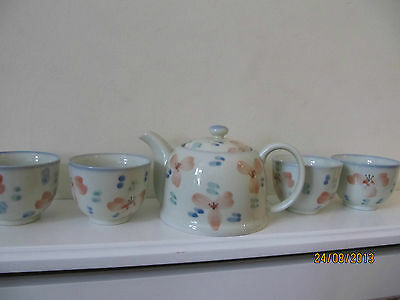 Japanese Tea Set 4 Cups And 1 Small Teapot • 22.99£