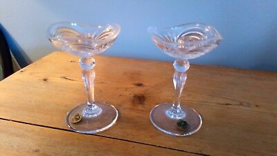 Pair Of Art Deco Style Crystal Candlesticks By RCR • 12.50£