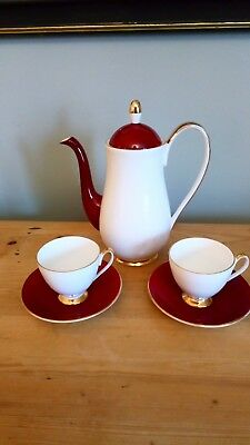 Vintage Queen Anne China Coffee For Two, Great Condition • 22£